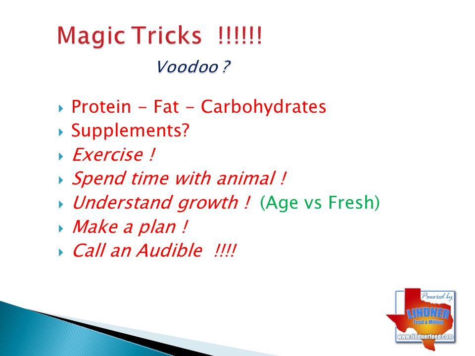 Magic Tricks !!!!!! Voodoo Protein - Fat - Carbohydrates