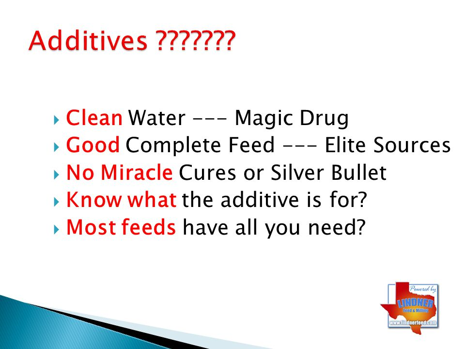 Additives Clean Water --- Magic Drug