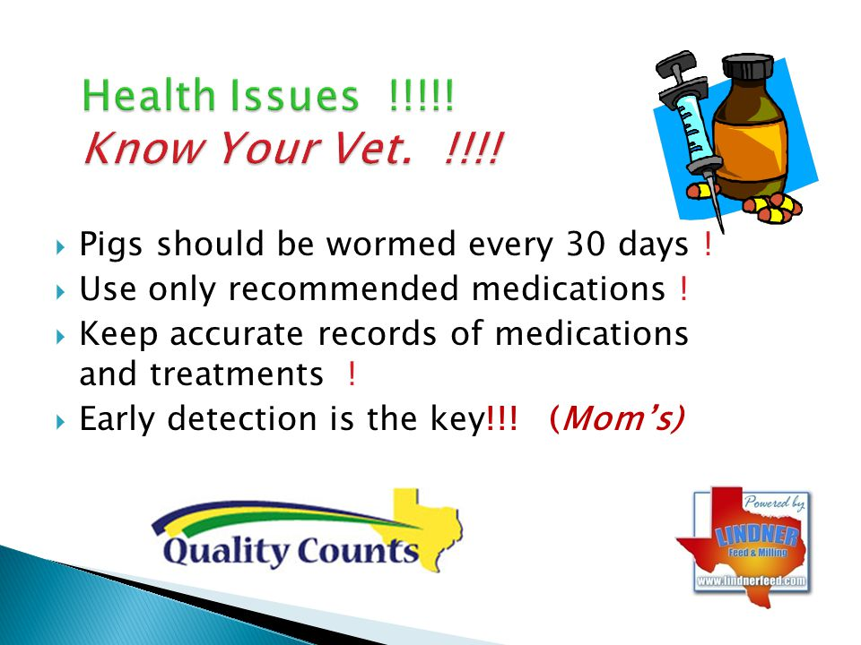 Health Issues !!!!! Know Your Vet. !!!!
