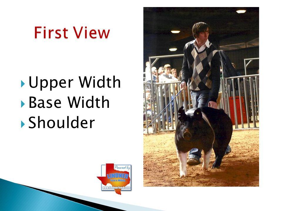 First View Upper Width Base Width Shoulder