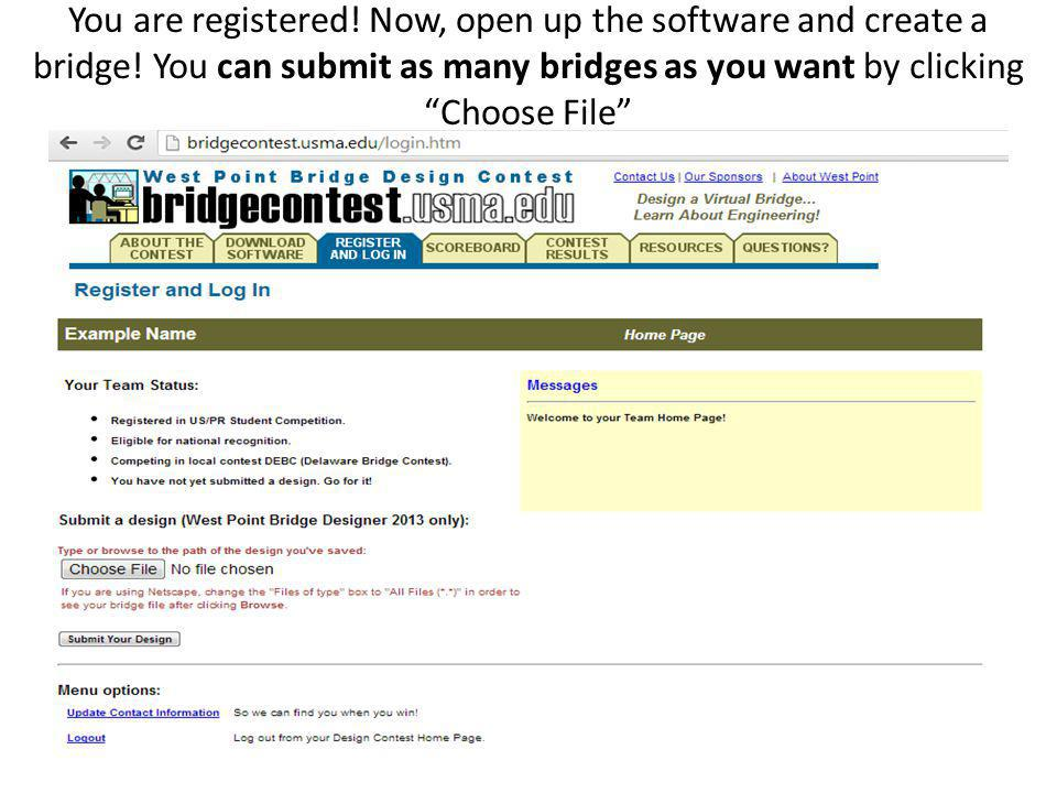 You are registered. Now, open up the software and create a bridge