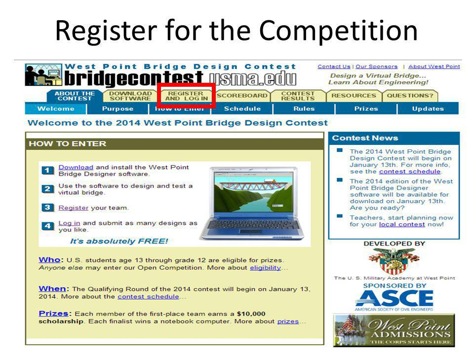 Register for the Competition