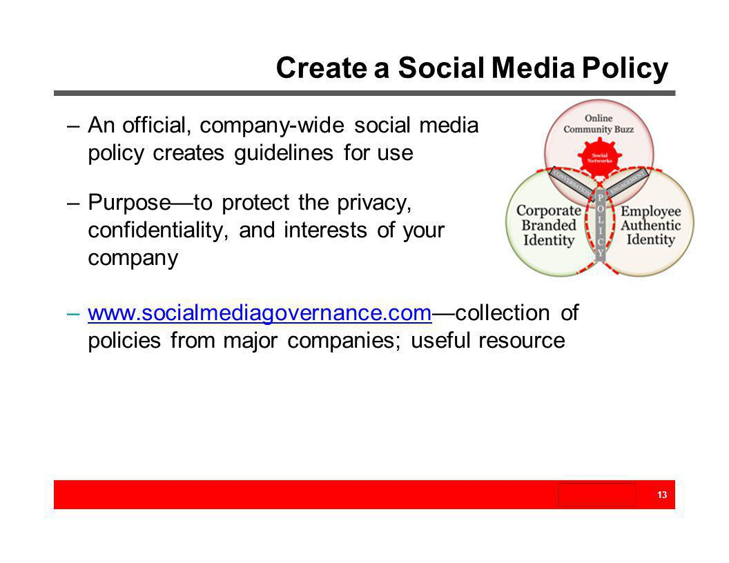 Create a Social Media Policy