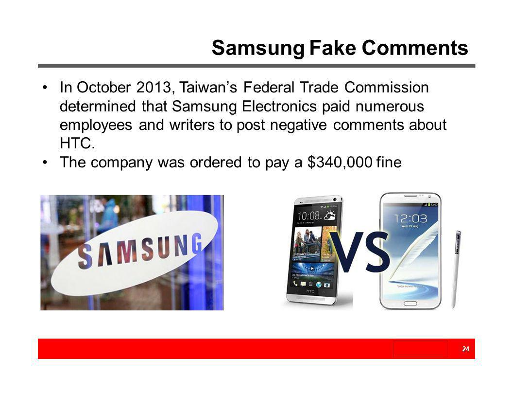 Samsung Fake Comments