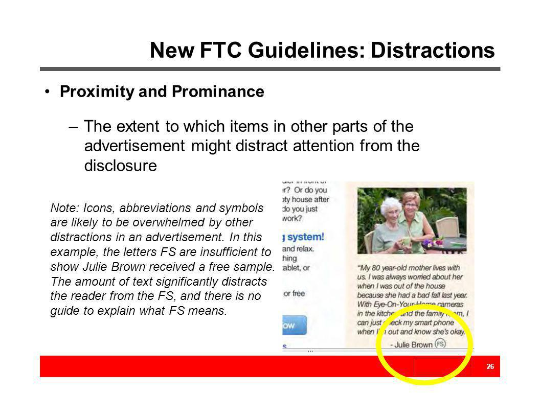 New FTC Guidelines: Distractions