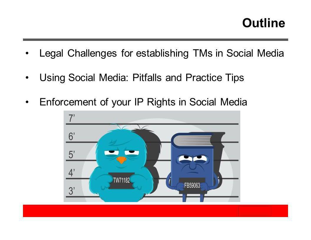 Outline Legal Challenges for establishing TMs in Social Media