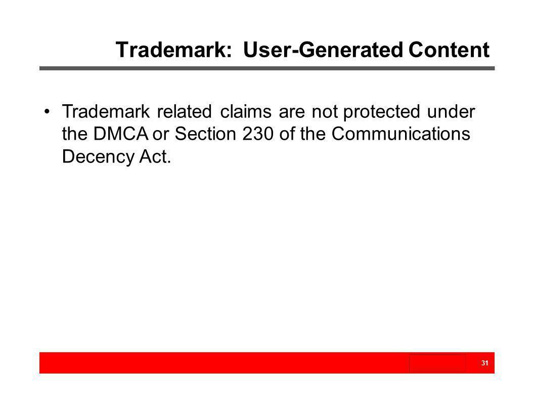 Trademark: User-Generated Content
