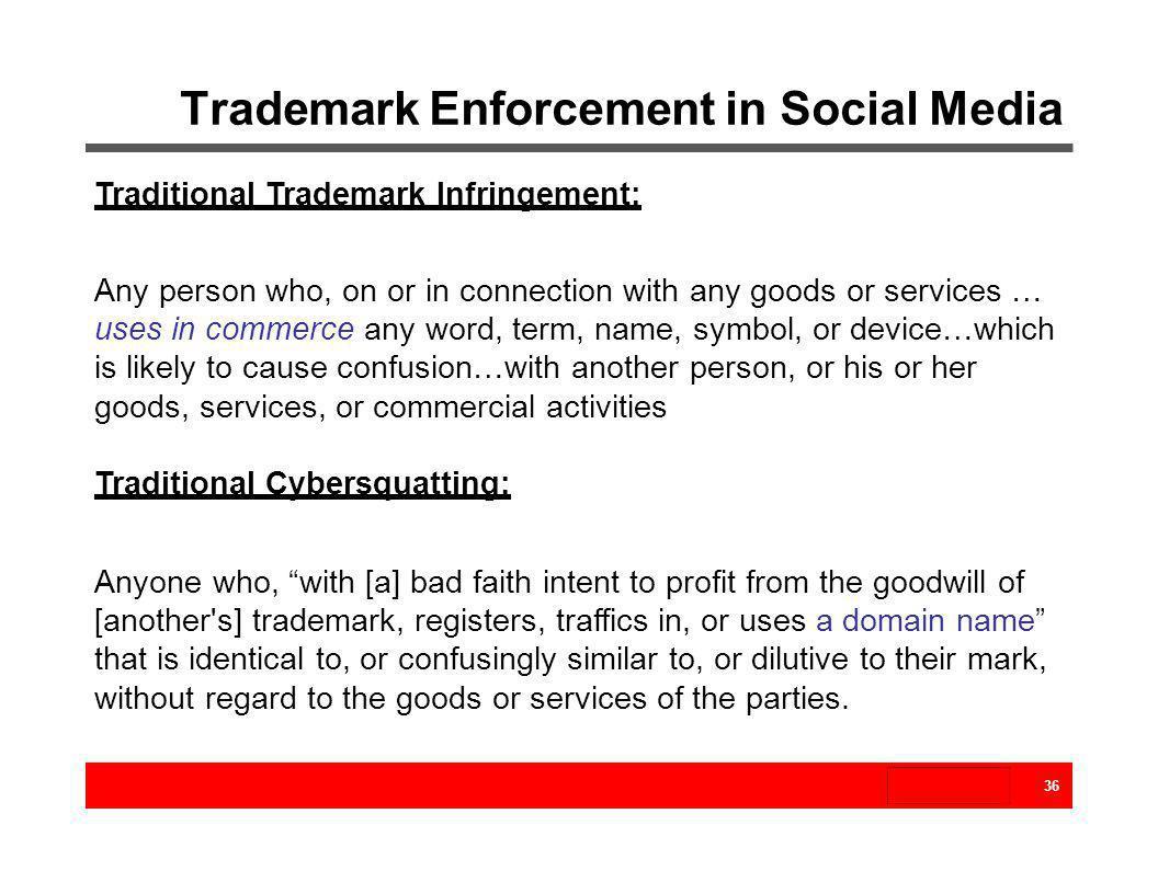 Trademark Enforcement in Social Media