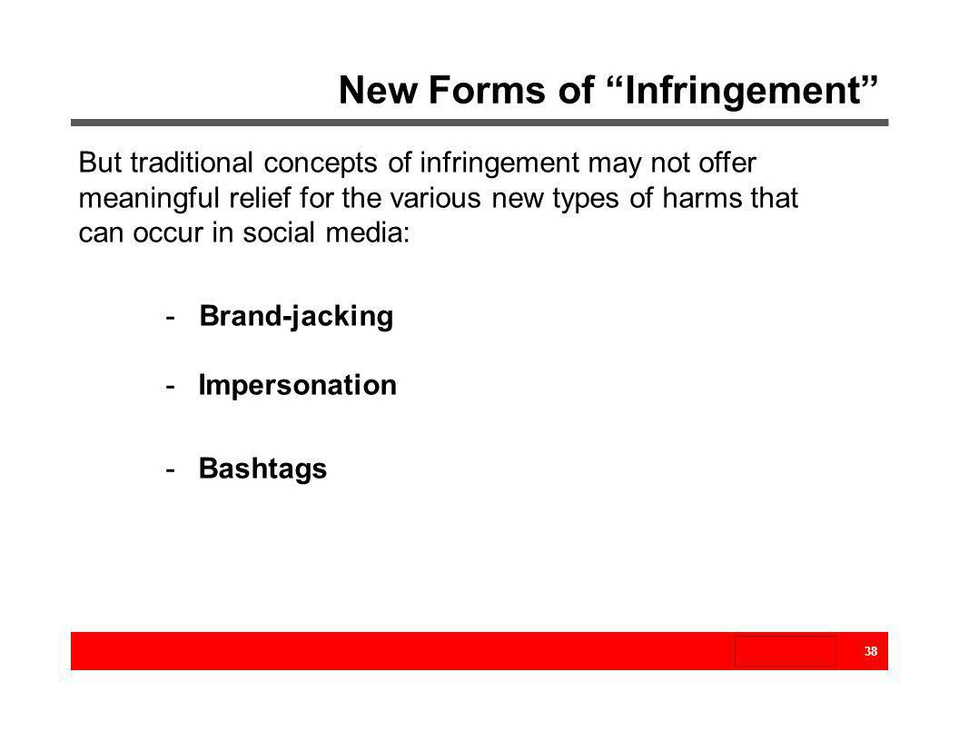 New Forms of Infringement