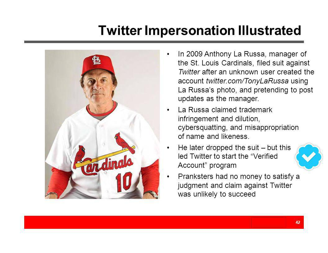 Twitter Impersonation Illustrated