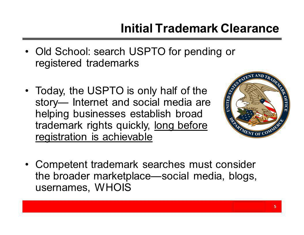 Initial Trademark Clearance