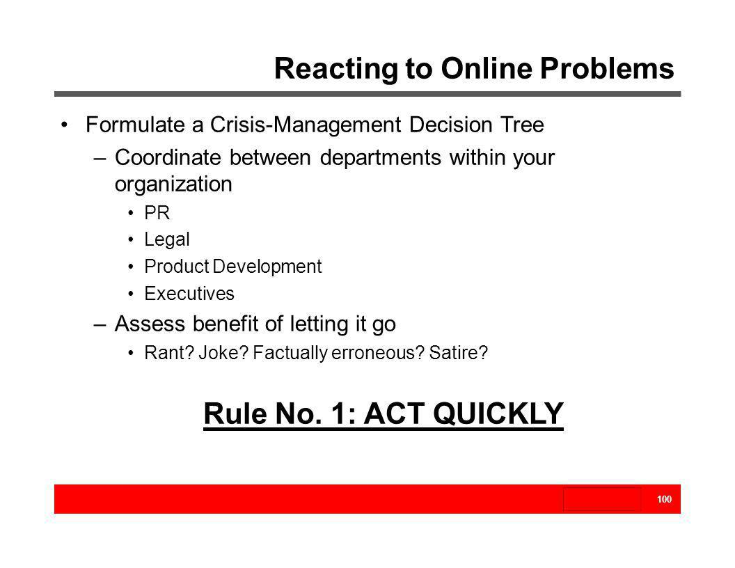 Reacting to Online Problems
