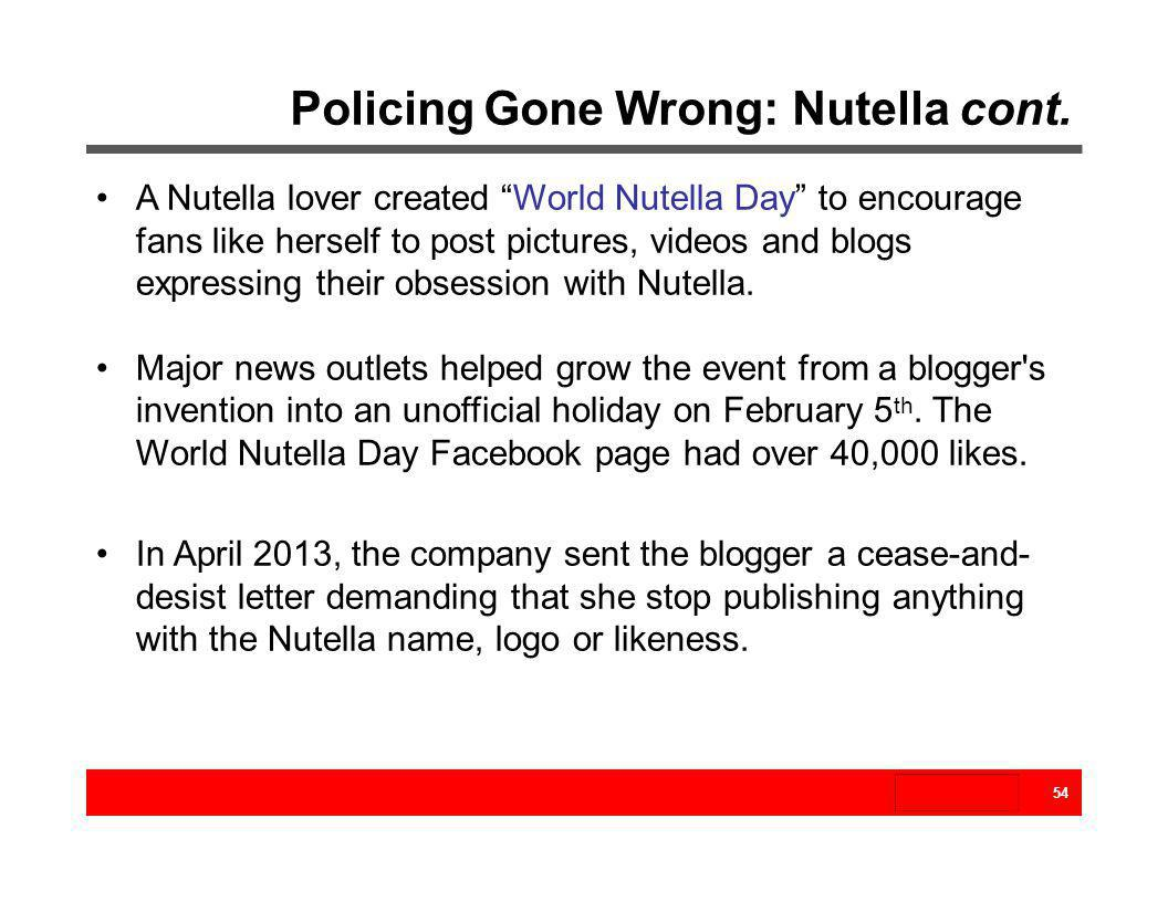 Policing Gone Wrong: Nutella cont.