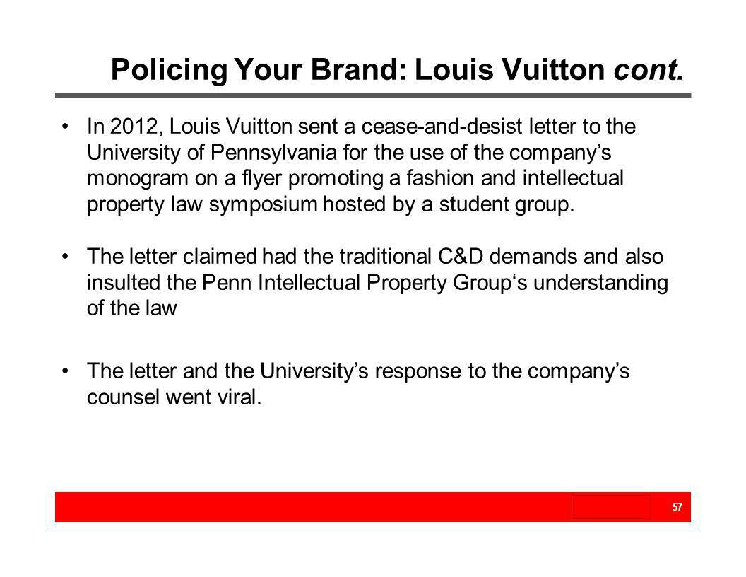 Policing Your Brand: Louis Vuitton cont.
