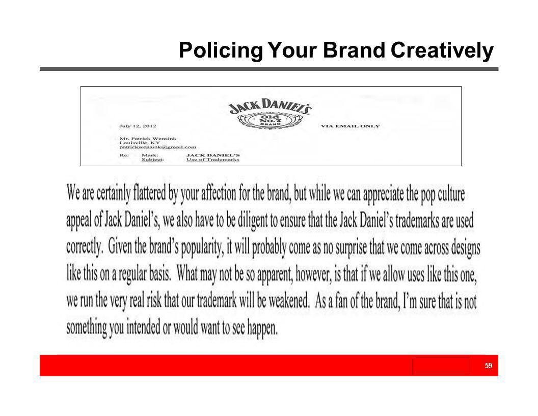 Policing Your Brand Creatively