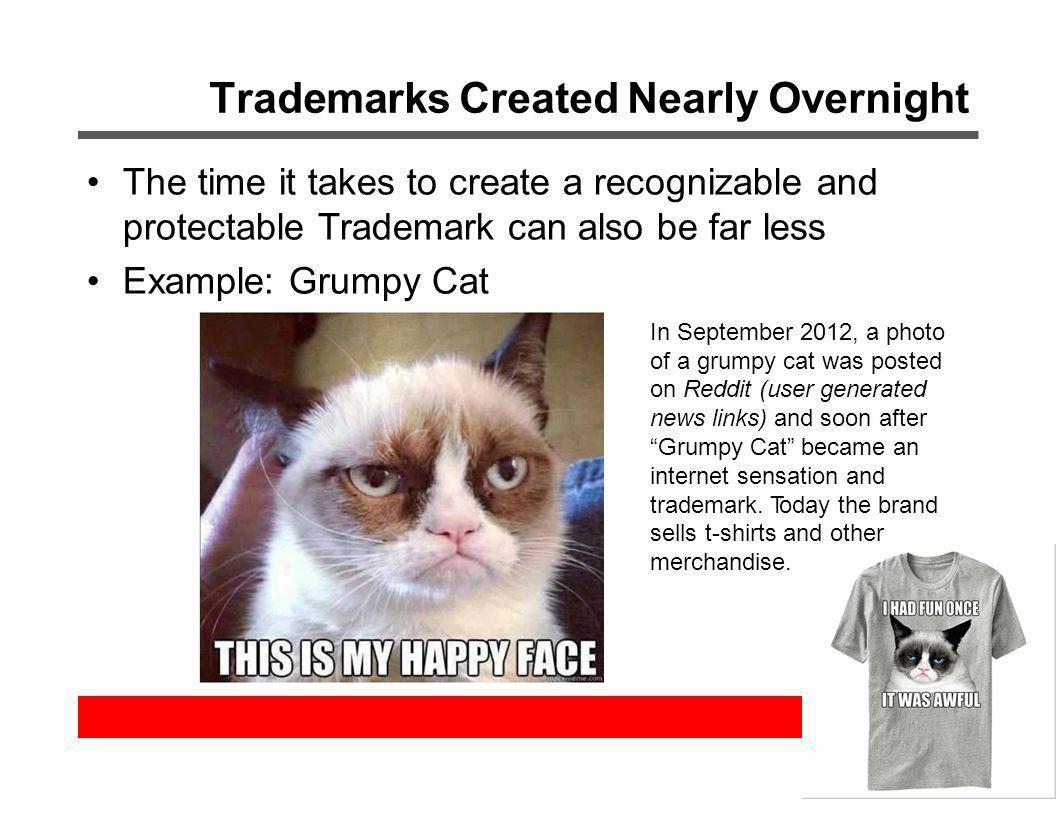 Trademarks Created Nearly Overnight