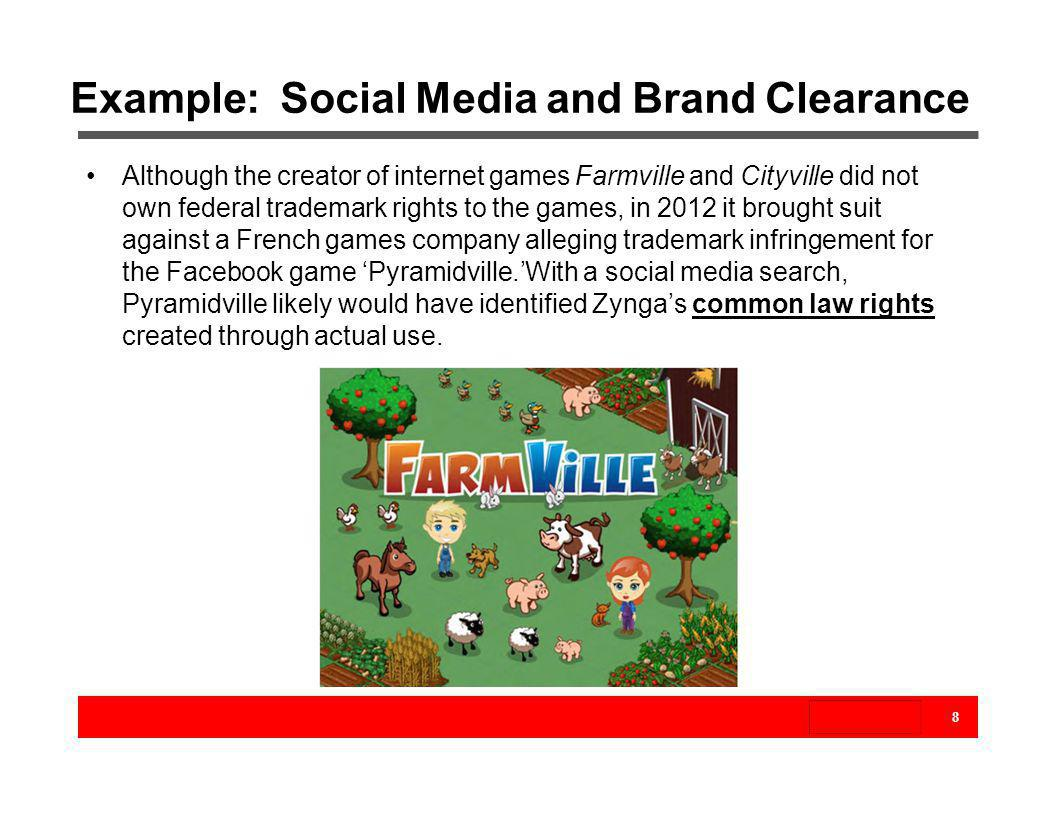 Example: Social Media and Brand Clearance