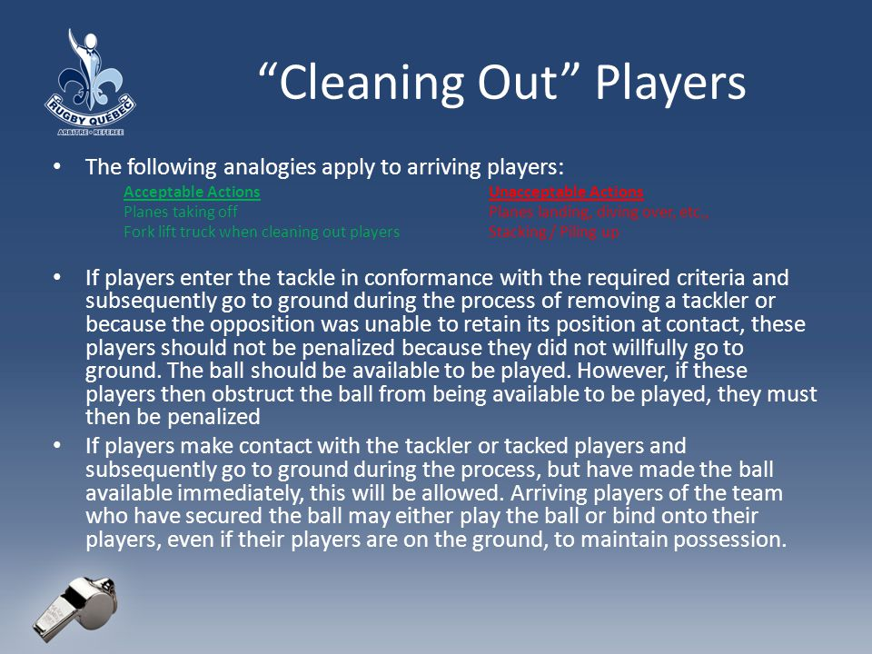 Cleaning Out Players