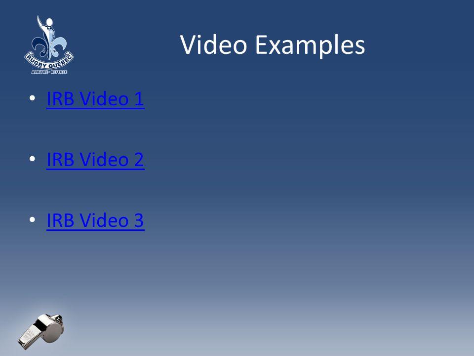 Video Examples IRB Video 1 IRB Video 2 IRB Video 3