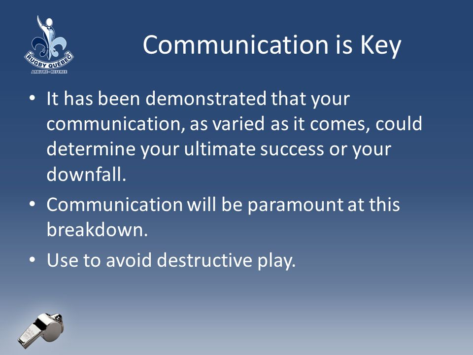 Communication is Key It has been demonstrated that your communication, as varied as it comes, could determine your ultimate success or your downfall.