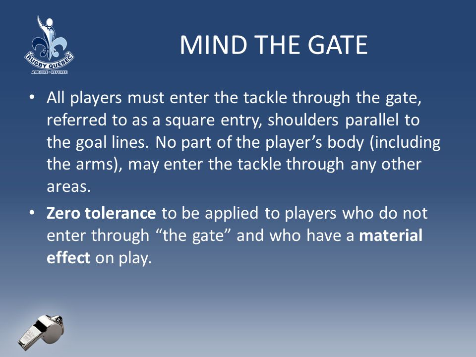 MIND THE GATE