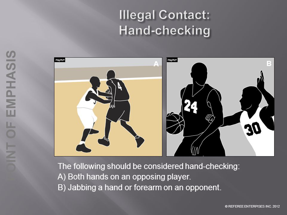 Illegal Contact: Hand-checking
