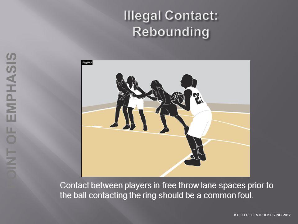 Illegal Contact: Rebounding