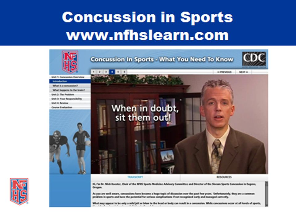 Concussion awareness and education continue to be a major Point of Emphasis.