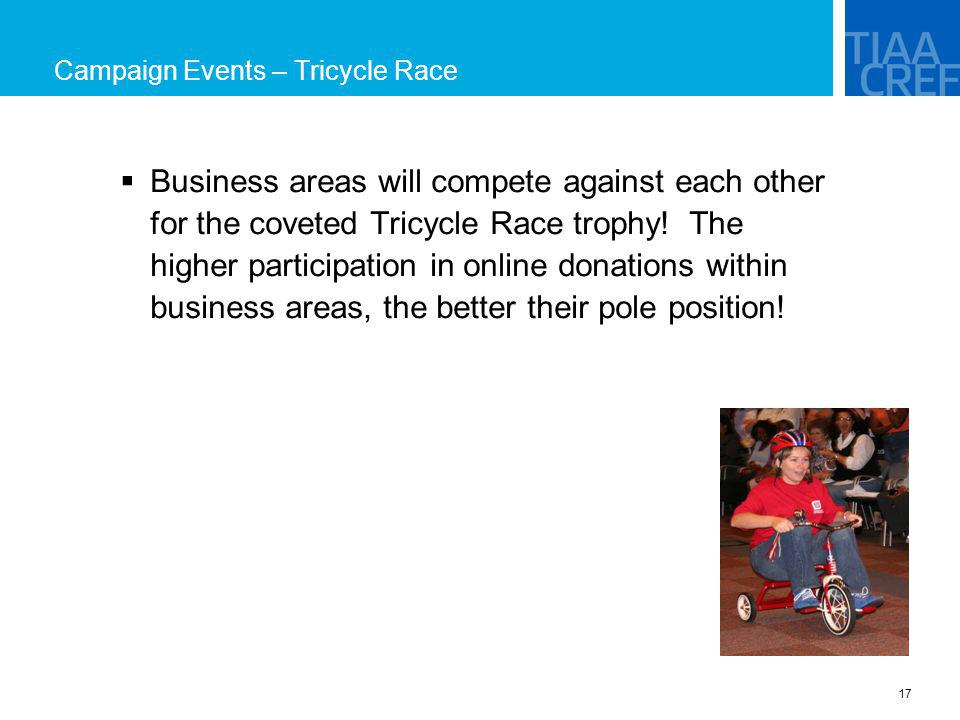 Campaign Events – Tricycle Race