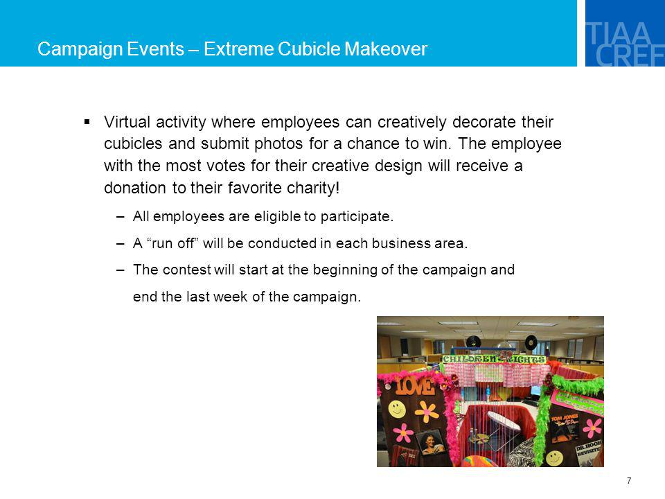 Campaign Events – Extreme Cubicle Makeover
