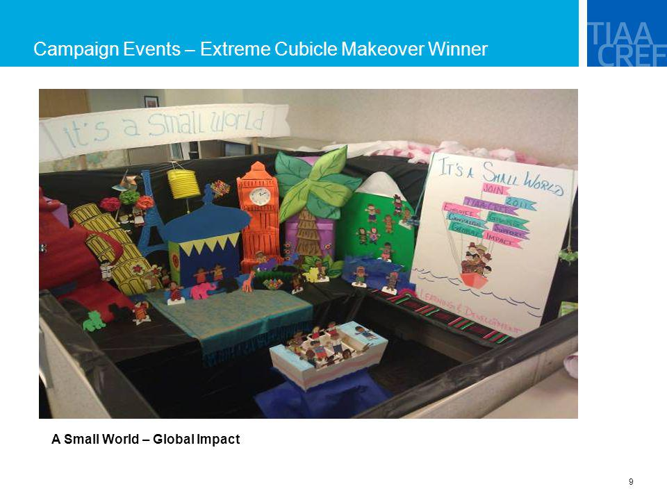 Campaign Events – Extreme Cubicle Makeover Winner