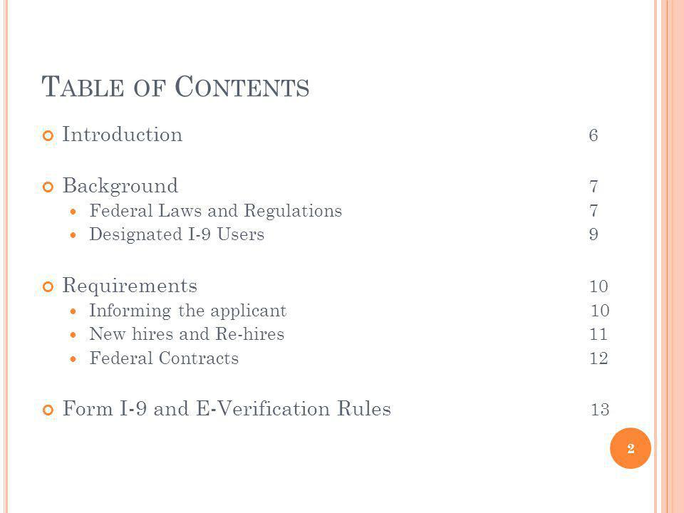 Table of Contents Introduction 6 Background 7 Requirements 10