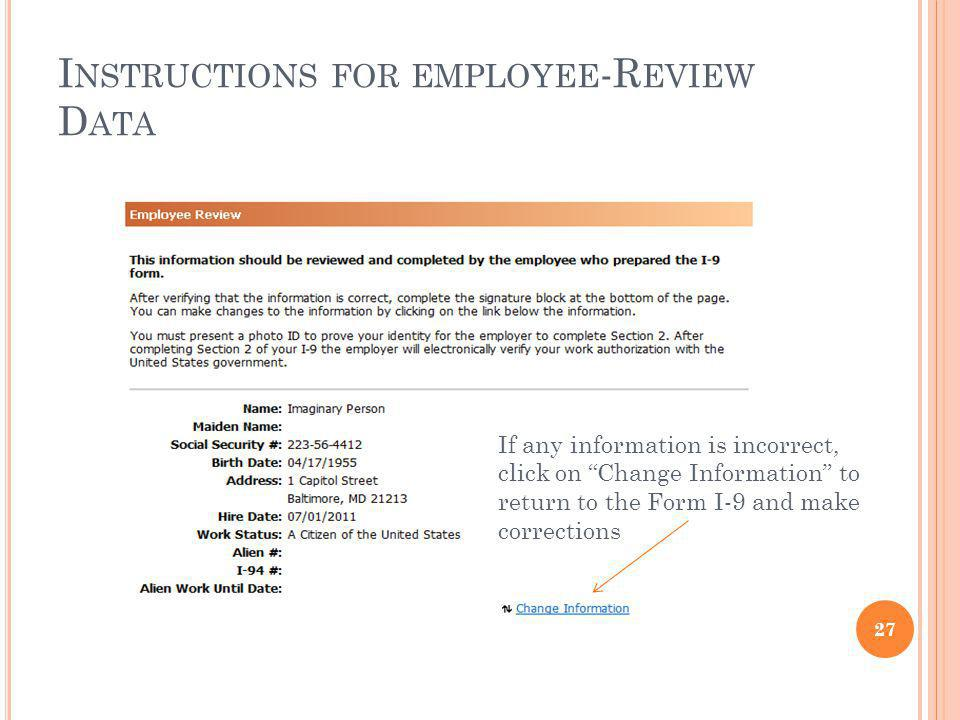 Instructions for employee-Review Data