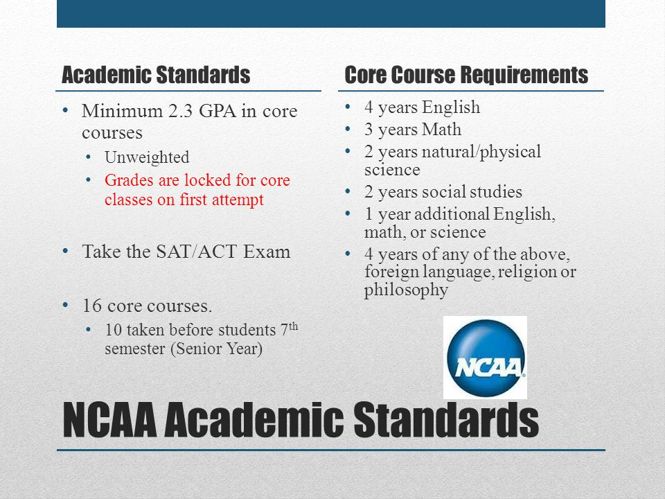 NCAA Academic Standards