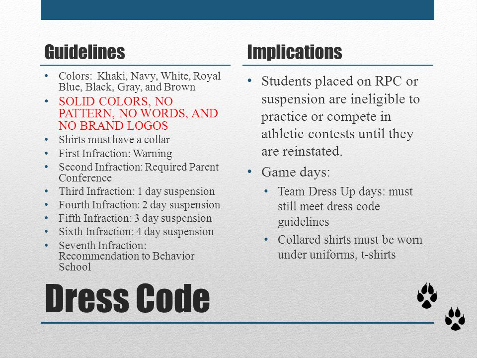 Dress Code Guidelines Implications