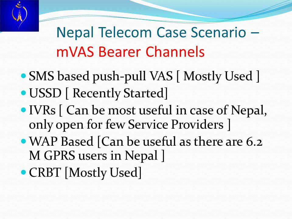 Nepal Telecom Case Scenario – mVAS Bearer Channels