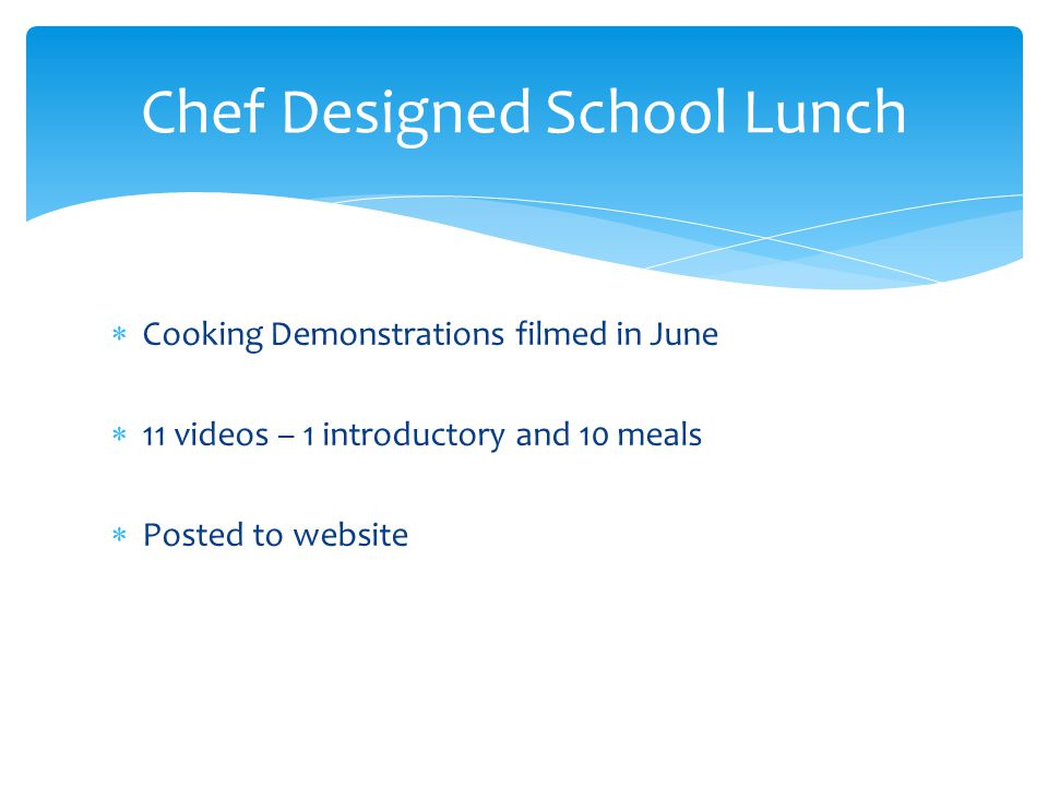 Chef Designed School Lunch