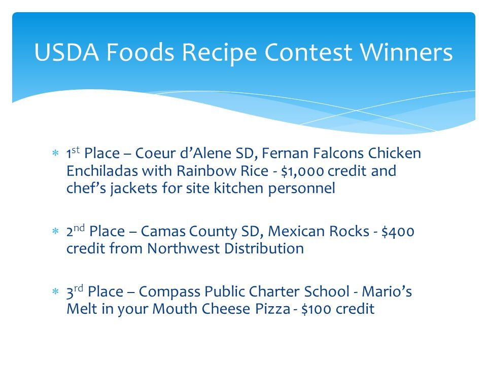 USDA Foods Recipe Contest Winners