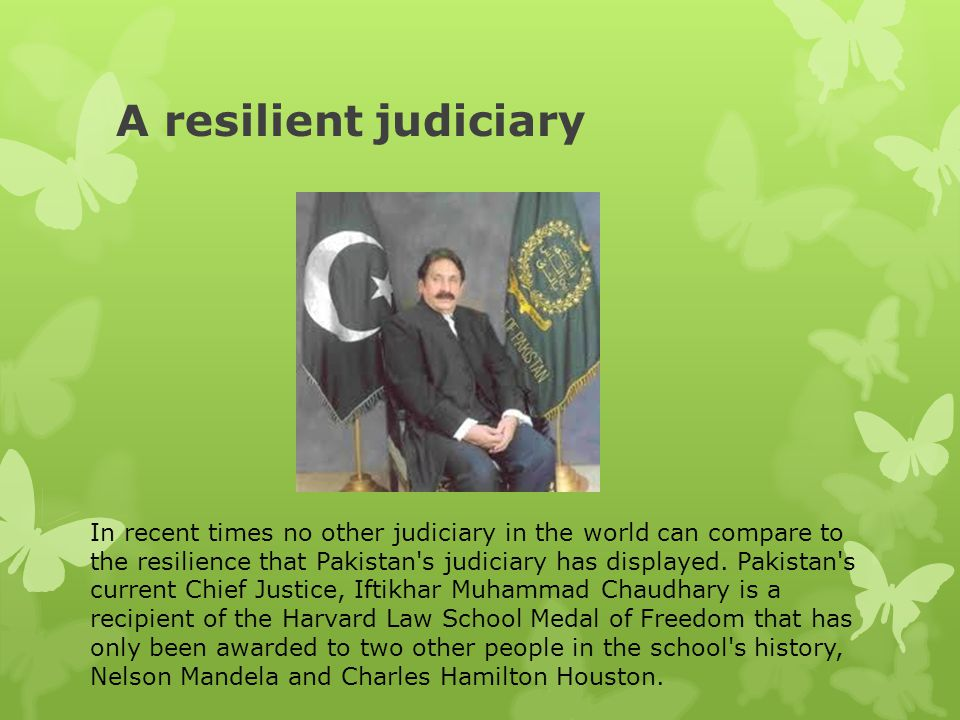 A resilient judiciary
