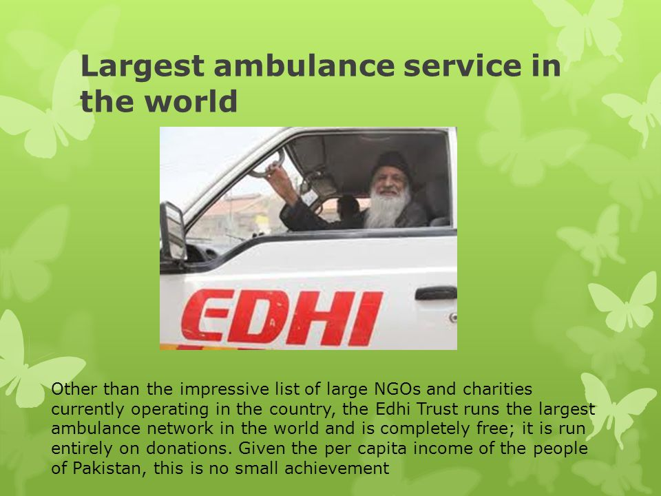 Largest ambulance service in the world