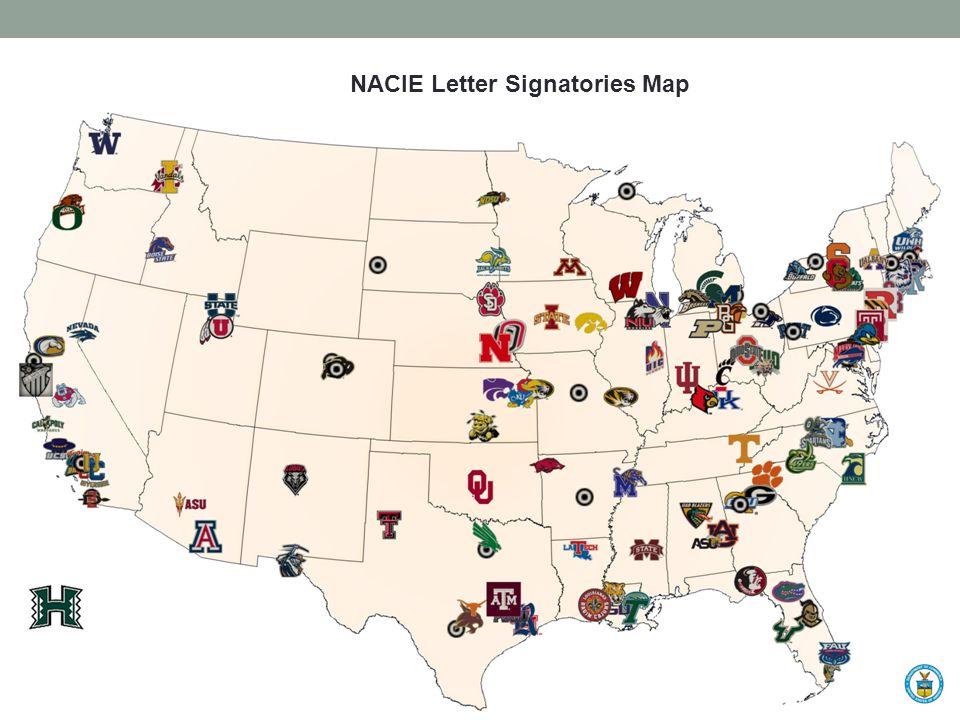 NACIE Letter Signatories Map