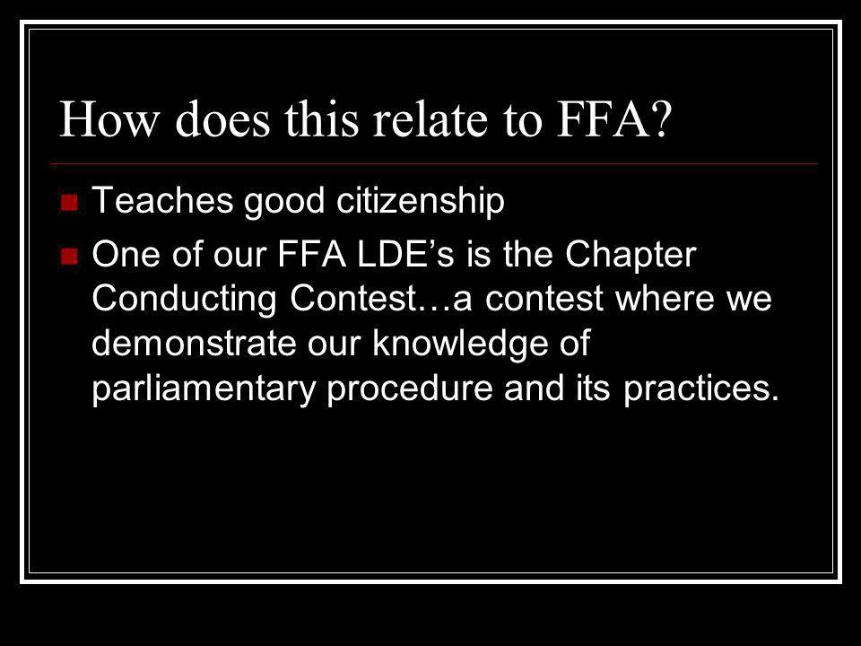 How does this relate to FFA