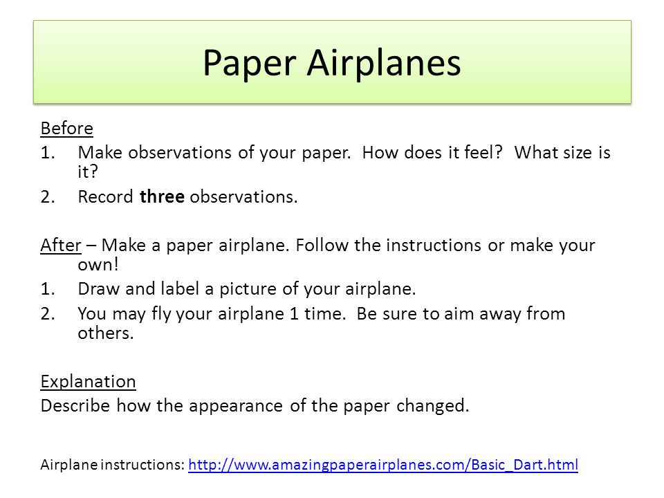 Paper Airplanes Before