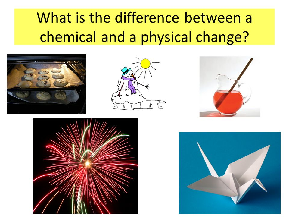 What is the difference between a chemical and a physical change