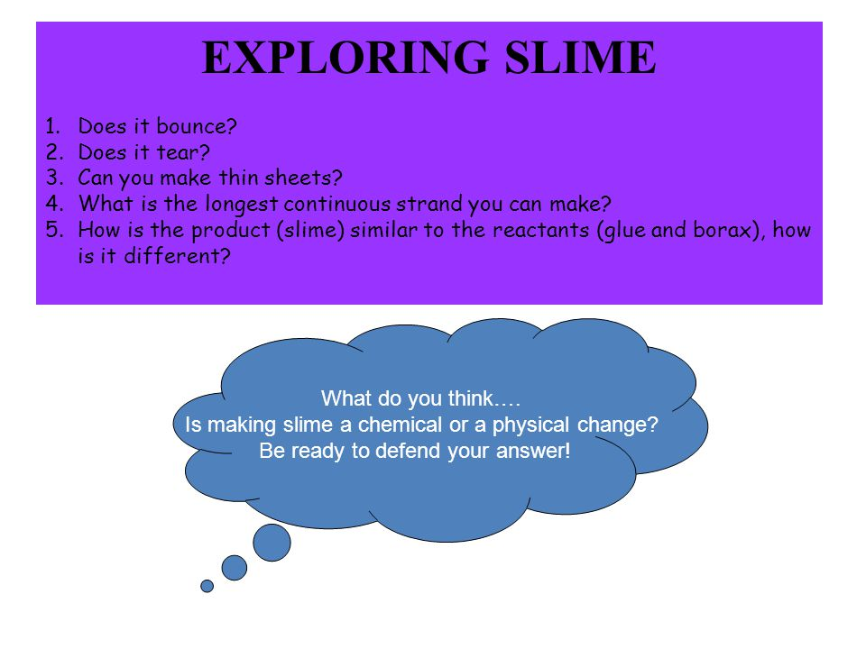 EXPLORING SLIME Does it bounce Does it tear