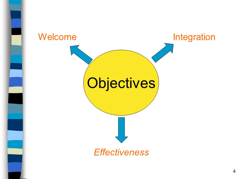 Welcome Integration Objectives Effectiveness