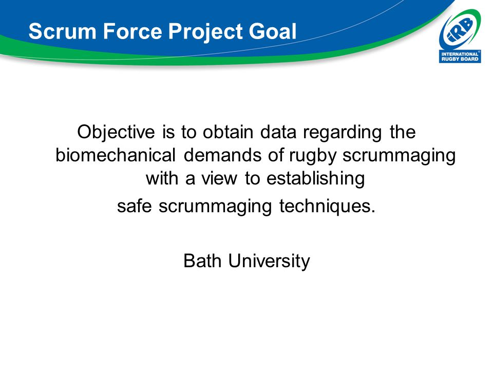 Scrum Force Project Goal