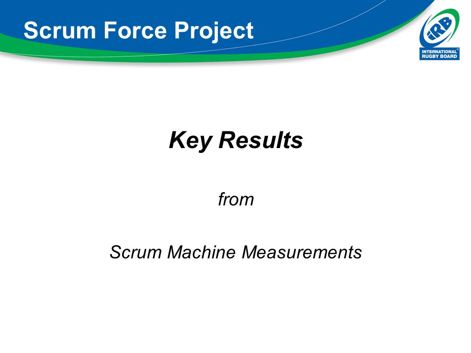 Scrum Machine Measurements