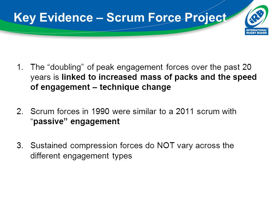 Key Evidence – Scrum Force Project