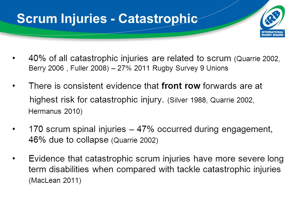 Scrum Injuries - Catastrophic